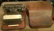 RARE Antique Vintage 1900-1910 HAMMOND No. 12 Portable Typewriter Oak Case works