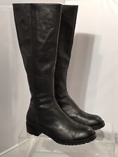DKNY Boots Genuine Leather Black Tall Shapely Riding Boots Size: 7 B NWOB