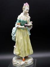 Fürstenberg Porzellanfigur Dame mit Tablett Porzellan Figur [schw