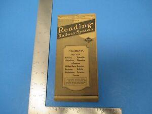 Vintage 1954 Reading Railway System Timetables Philadelphia Toronto S1174