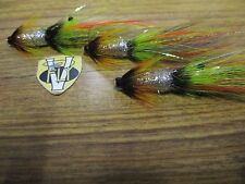 3 V Fly 1 Inch Brass Aaroy Greenlander Shrimp Salmon Tube Flies & Trebles