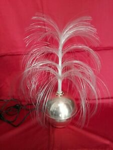 Lampe vintage 70 palmier fibre optique