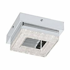Eglo – Lampada da parete o soffitto acciaio integrato cromo trasparente 14 x 14
