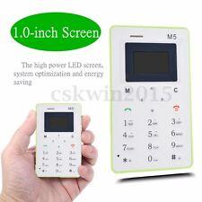 AIEK M5 1.0 MINI TELEFONO CELLULARE FORMATO CARTA CREDITO ALARM CLOCK THIN KIDS