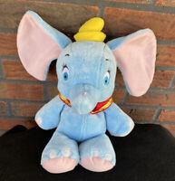 "Disney Store Exclusive Dumbo the Elephant Plush Stuffed Animal 13"" Blue Pink WDW"