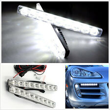 2 Pcs 12V 18W 9-LED Super Bright White Car Daytime Running Lights DRL Fog Lamps
