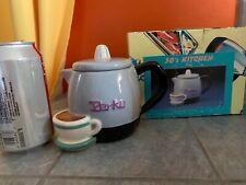 Fitz & Floyd Omnibus 50's Kitchen Perkd Coffee Pot & Cup Saucer Shaped Mug wBox