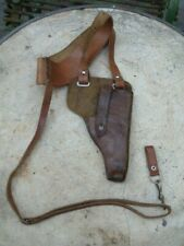GUERRE INDOCHINE ARMEE FRANCAISE : HOLSTER EN CUIR POUR PILOTE / 7,65MM