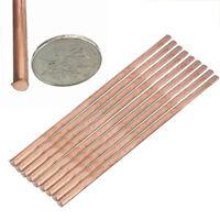 Rund Kupferstab Rein 99.9% Kupfer Stange Cu 200mm x8mm Stab