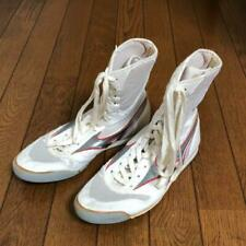 NEW Mizuno Boxing Shoes Long White × Silver made in JAPAN / US8 / UK7 1/2