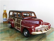 California Woody Surfer Beach Toy Car with Rolling Wheels & Vintage Retro Look