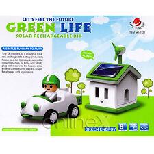 Conjunto Casa y Coche Recargable Solar Ecológico Juguete Educativo a1511