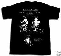 MICKEY MOUSE PATENT SHIRT tshirt S M L XL 2XL 3XL Walt Disney NEW Minnie World
