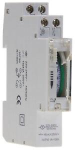 Tages Zeitschaltuhr Analog Schalttafel Einbau Hutschiene 16A 230V 3500W Batterie