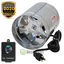"""4"""" 6"""" 8"""" Duct Booster Inline Fan Blower Exhaust Ducting Cooling Vent &Controller"""
