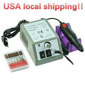 Electric Nail File Drill Manicure Machine Art Acrylic Pedicure Tool Set Kit USA