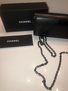 Authentic *CHANEL* Black Caviar Leather SMALL Quilted Bag w/ Box & Dust Wipe
