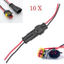 10x KFZ 2-Polig mit Kabel Steckverbinder AUTO Stecker Wasserdicht Verbinder