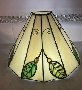 Interiors 1900 TIFFANY STYLE GLASS WALL LAMPSHADE ART DECO RETRO! Lot 2