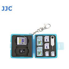 JJC MC-10B Memory Card Case fits 2 SD 2 MSD 2 SIM 2 Micro SIM 2 Nano SIM Blue +