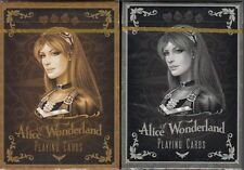 Alice of Wonderland 2 Deck Set Gold & Silver Playing Cards Poker Size Custom New