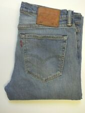 LEVI'S 527 JEANS MEN'S STRETCH LOW BOOT CUT W34 L30 MID BLUE STRAUSS LEVR803