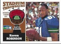 2001 Finest Stadium Throwback Relics #FSKR Koren Robinson - NM-MT