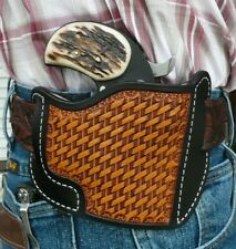 "Leather Holster Bond Arms 3"" Texas Defender w/Trigger Guard Ruff's Black & Tan"