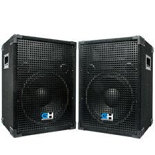 """Grindhouse Speakers Pair of 12"""" PA/DJ Loudspeaker Cabinets 700 Watts Peak each"""