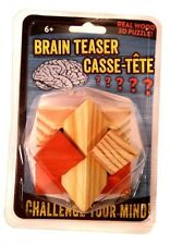 Brain Teaser 3-D Wooden Puzzle Twist Rubix Rubics Cube Style Block Game