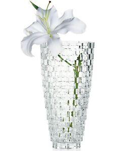 "Mikasa Crystal Palazzo Flowers Vase 9"", Home Decoration"