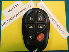 05-06-07-08 Toyota Sienna Double Slider, GATE, Keyless Remote, KEY FOB GQ43VT20T