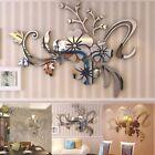 3d Removable Mirror Wall Sticker Flower Art Mural Decals Living Room Home Decor