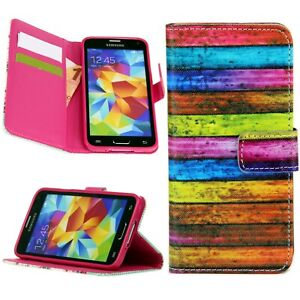 Schale Flip Handy Schutz Hülle Cover Case Klapp Etui mit Motiv Multicolor