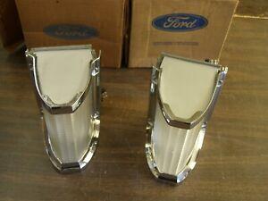NOS OEM Ford 1969 Mercury Park Light Lamps Lenses Bezels Monterey