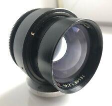 Telor F2/85mm Red O lens block dslr Canon Pentax Sony M39 mount + M42 ring