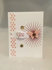"Card Kit Set Of 4 Stampin Up Something Eclectic ""Just For You"" Crisp Canteloupe"
