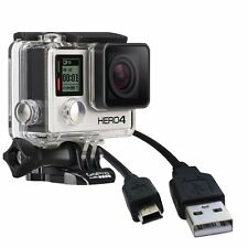New USB DC Power Charger+Data SYNC Cable For GO Pro HD Hero 3 chdhe 301 302 303