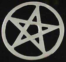 White Metal Pentacle Pentagram Altar Tile Wiccan Pagan Altar Supply RPEN3