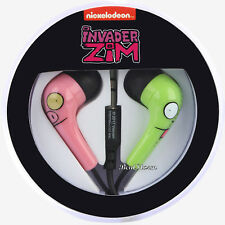 Invader Zim Gir & Piggy face earbuds Earphones Headphones Nickelodeon Licensed