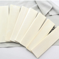 DIY Material Bovine Bone Shank Handle blanks Scale Slab Handle Patch 87x31x5mm