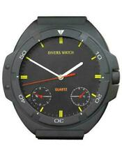 DIVE Watch Wall Clock Scuba Diver Gift Matte Black  12 inch, Battery op. NEW NIB