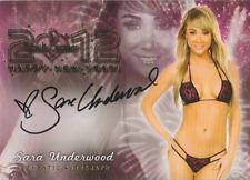 Sara Jean Underwood 2012 Bench Warmer Happy New Year autograph auto card