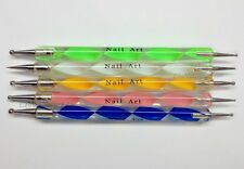 Nail Art Manicure Pedicure 5pc- 2 Way Dotting and Marbling Tools