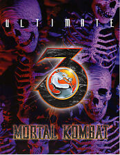 ULTIMATE MORTAL KOMBAT 3 Original Promo VIDEO ARCADE GAME Flyer MIDWAY Brochure
