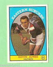 1968 SERIES 1  SCANLENS RUGBY LEAGUE CARD #31  KEVIN JUNEE, EASTERN SUBURBS
