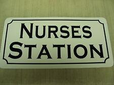 NURSES STATION Metal Sign 4 Hospital RN Home Practice Drug Store Pharmacy School