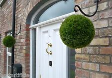2 Best Artificial 28cm Conifer Topiary Balls alt boxwood buxus grass hanging