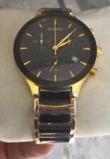 Vintage Rado Chronograph Men's Wrist Watch Band Golden Black Christmas Gift
