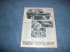 """1972 Chevy Vega Panel Twin-Turbo Pro Street Vintage Article 'Two's Company"""""""